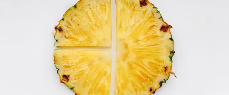 Prikaz kriške ananasa